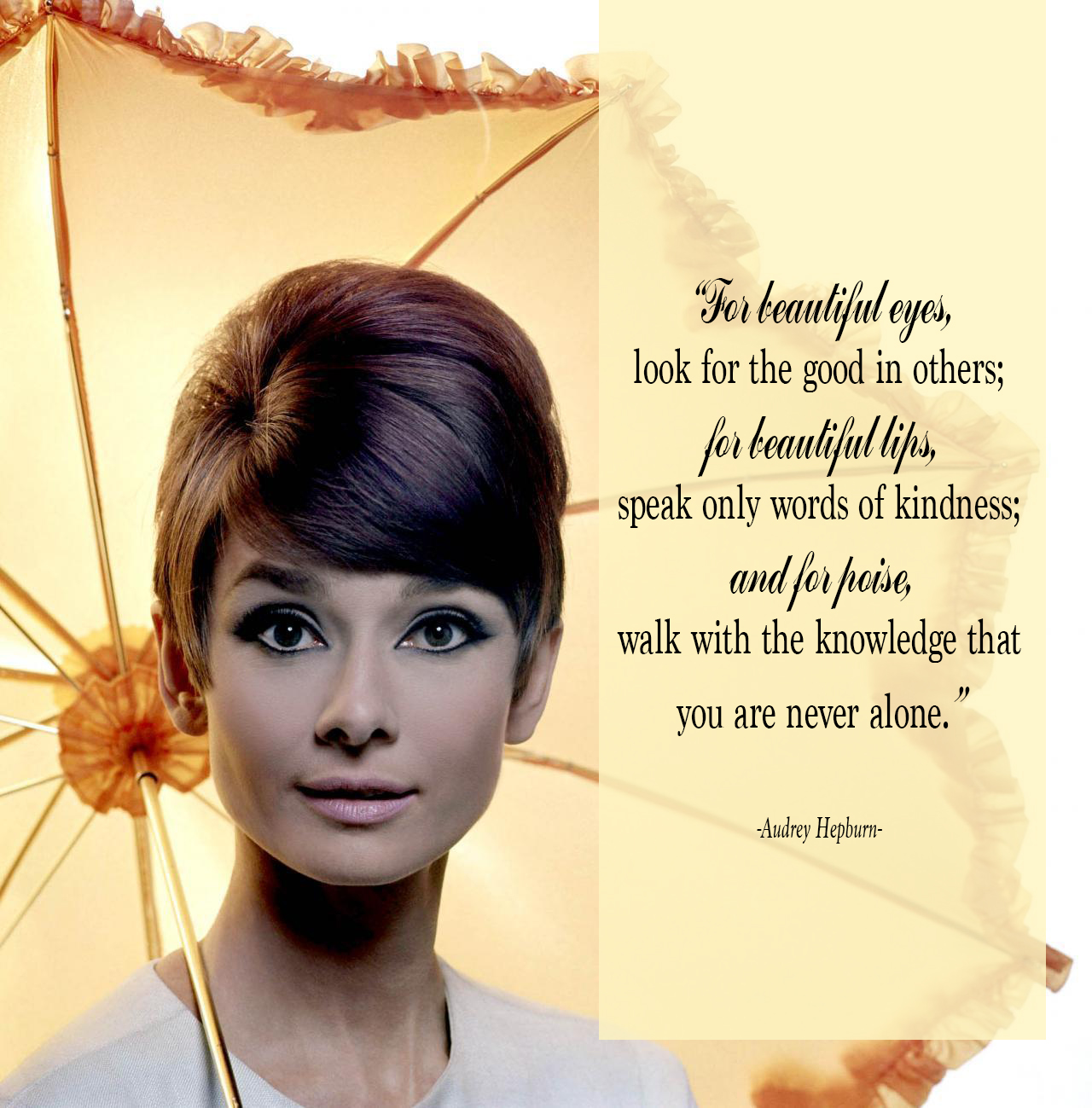 A Quote For A Beautiful Girl: 7 Audrey Hepburn Quotes To Live By