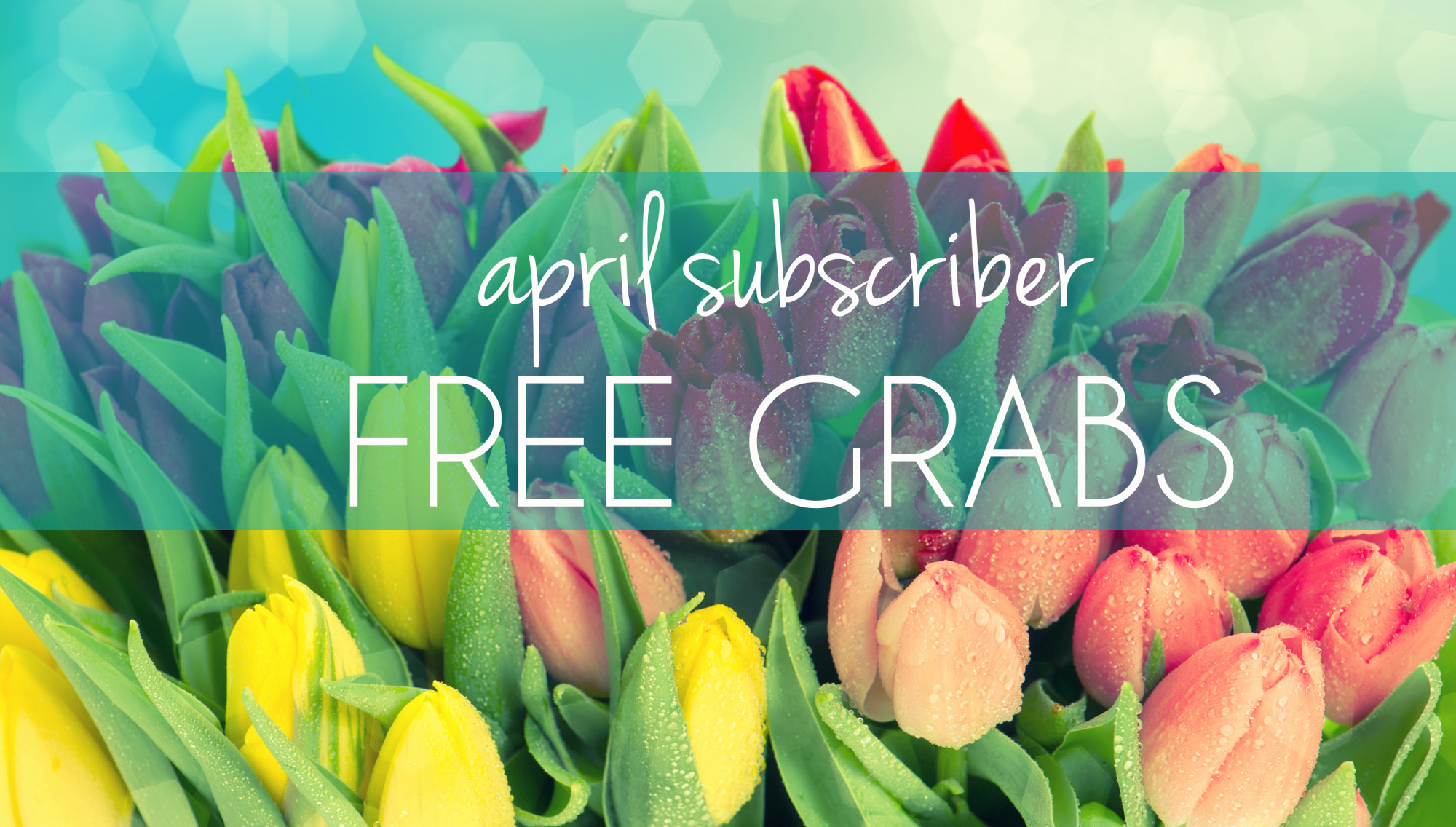 SUBSCRIBER'S FREE GRABS: April