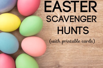 Easter Scavenger Hunt (with printable cards)