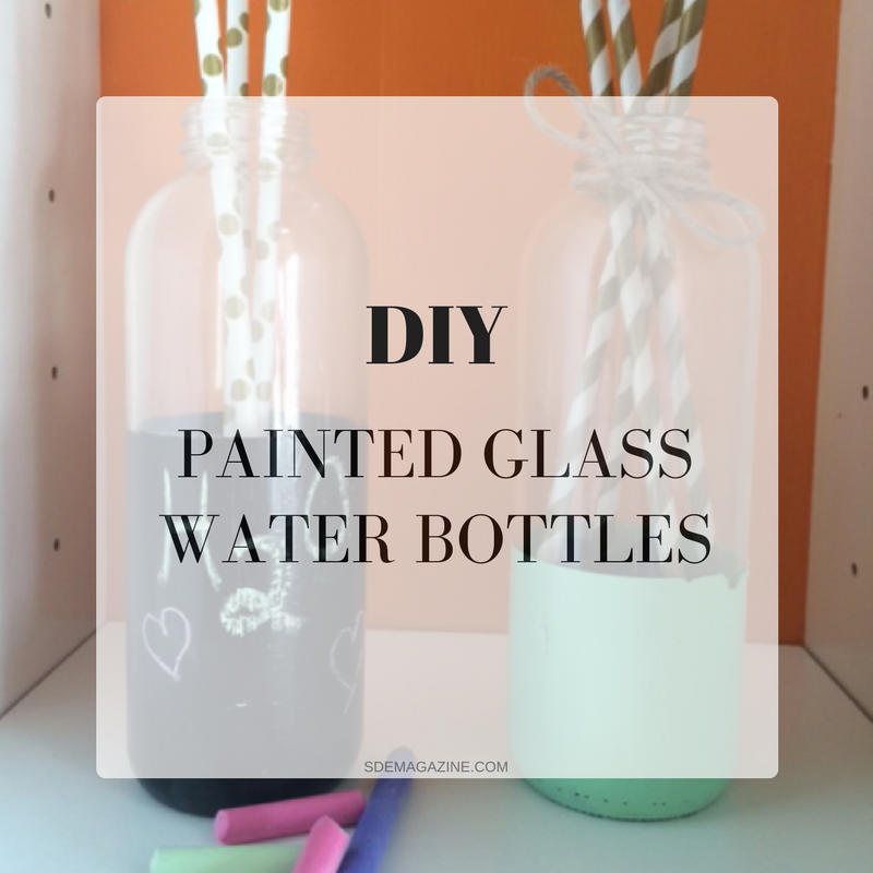 Painted Glass Water Bottles