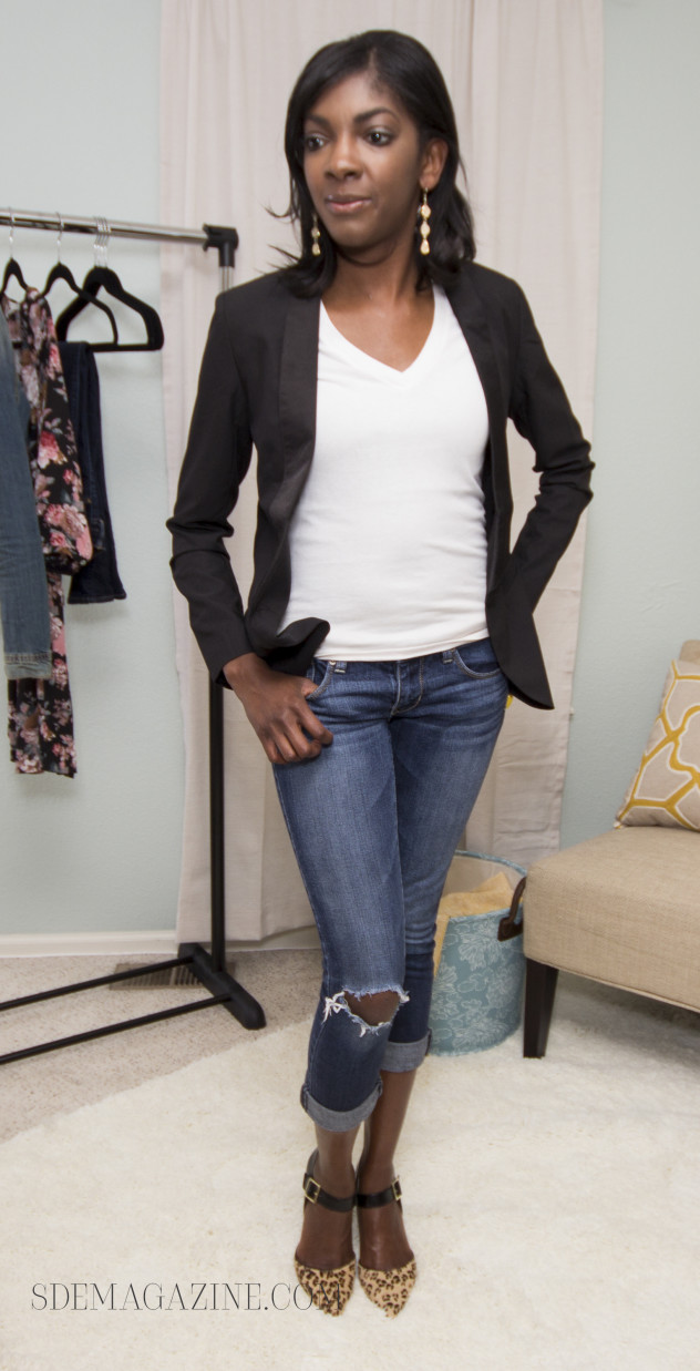 87f2237e45 A couple of weeks ago I included my black blazer in one of my White T-Shirt  outfits. After getting several emails from readers showing their love for  this ...