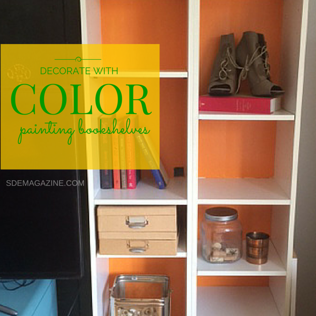 Decorate With Color: Painting Bookshelves