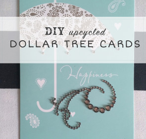 Dollar Store Jewels:  Dolled up cards