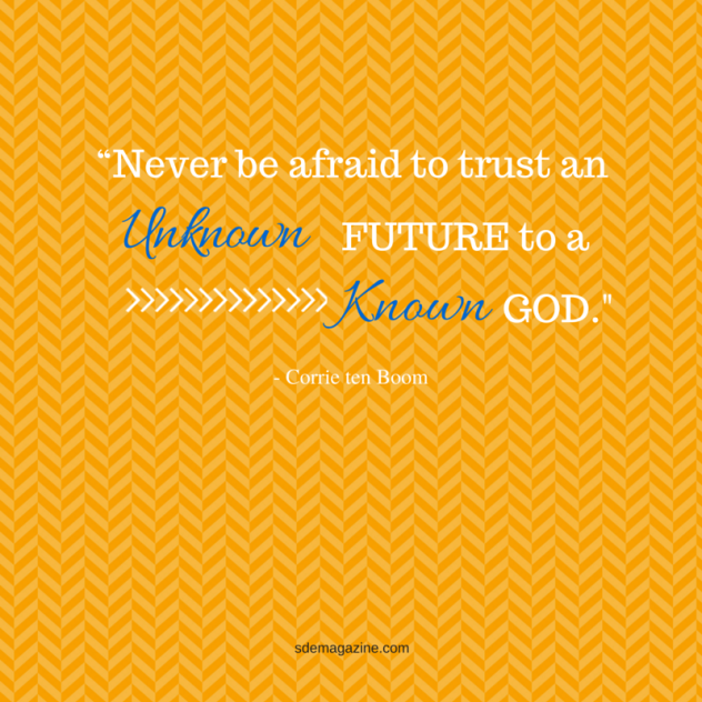 """Never be afraid to trust an"