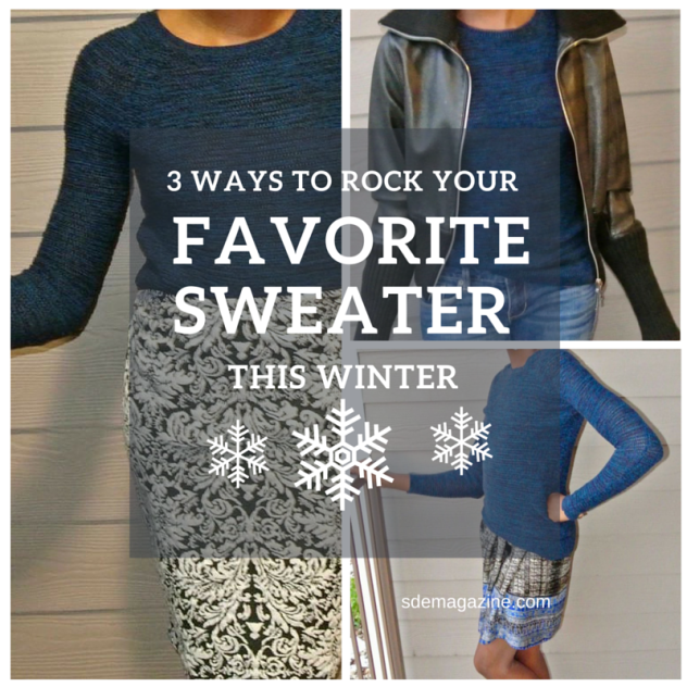 3 ways to wear your sweater