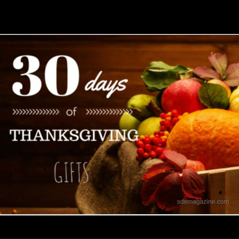 30 Days of Thanksgiving-Gifts