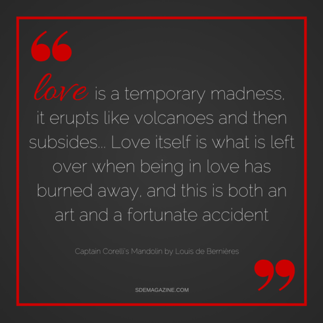 love is a temporary madness