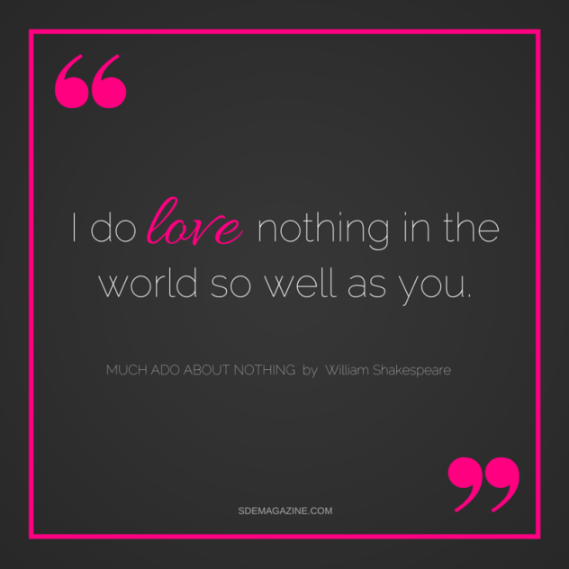 i love nothing in the world so well as you