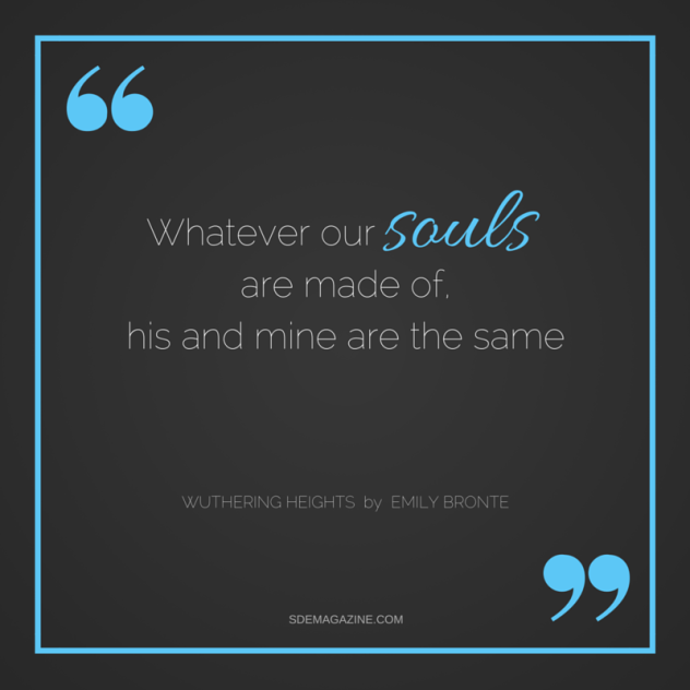 whatever our souls are made of, his and mine are the same