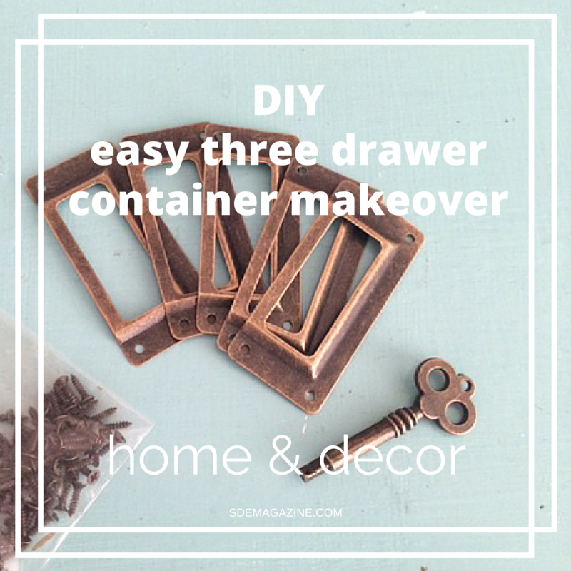 Three Drawer Container Makeover