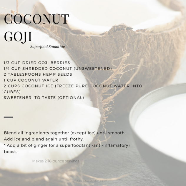 coconut goji smoothie