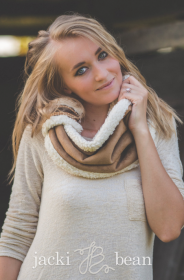 Sherpa Suede Loop Scarf, Neck Warmer