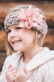 Pink Dahlia Kids Knitted Headband