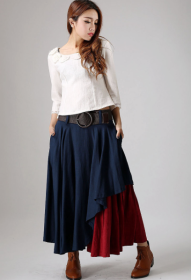 Long Layered Boho Skirt xiaolizi