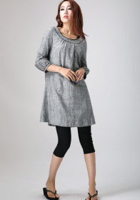 Grey Tunic Dress xiaolizi