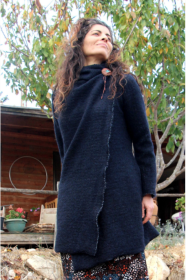 Wool Hooded Cardigan Sweater