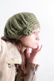 Emerald Green Knit Beret