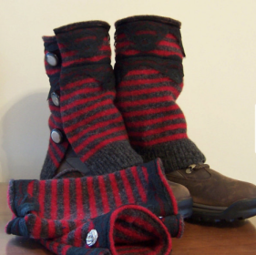 Boot Cuff Wool Leg Warmers