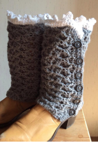 Leg warmer button up boot cuffs