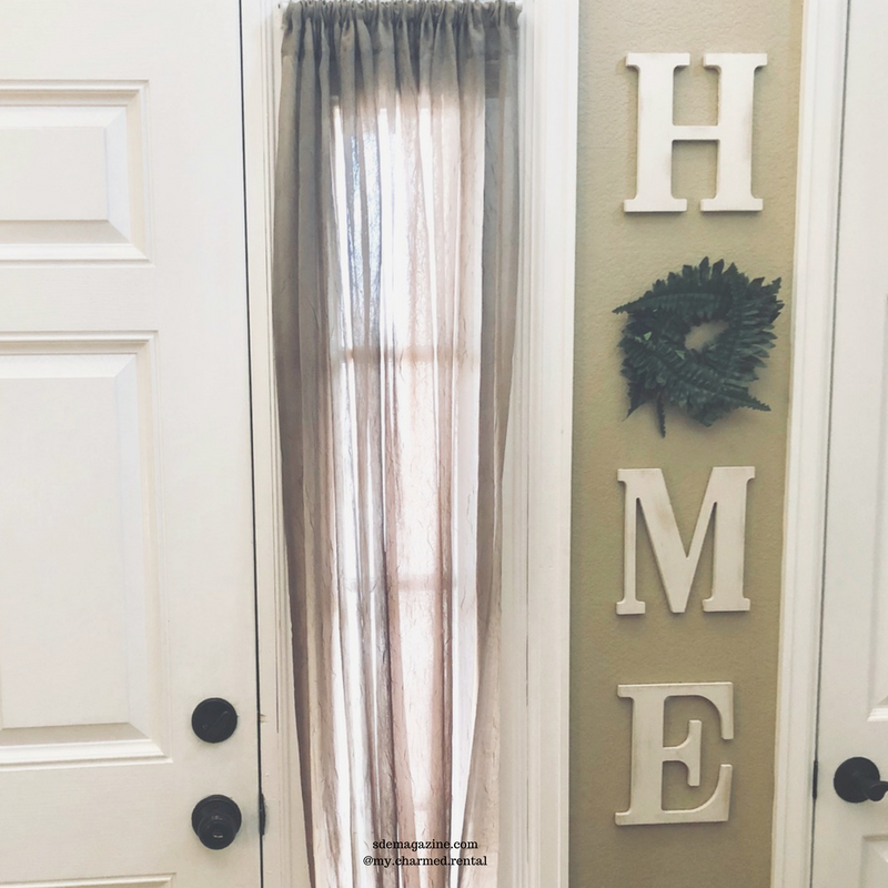 DIY Adorable HOME Craft For The Entryway
