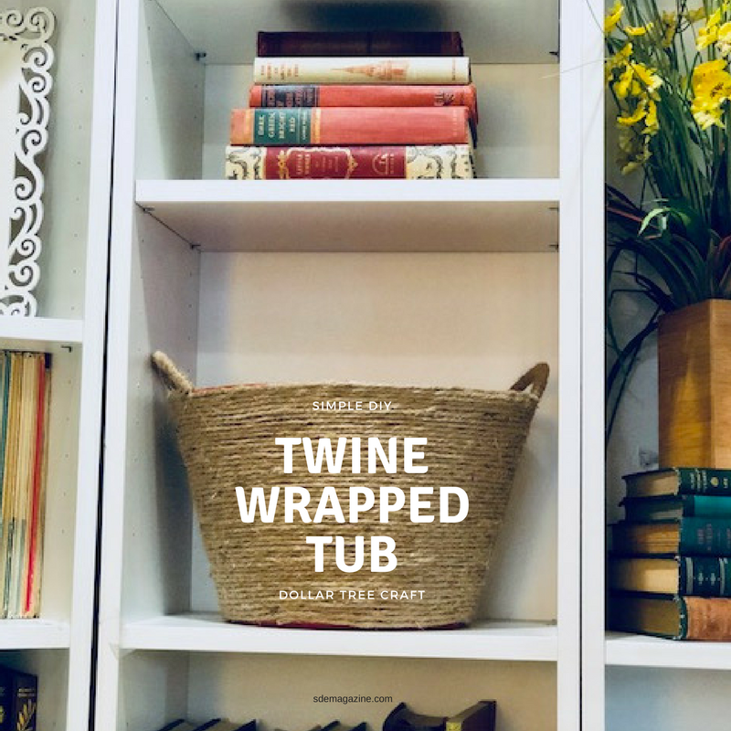 Simple DIY Dollar Tree Storage Tub